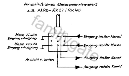 Anschluss eines stereo Potentiometers